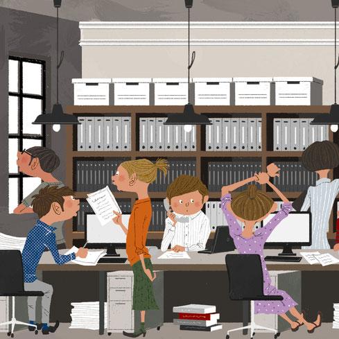 社会保険労務士 オフィス 働く人