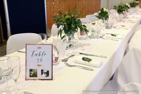 Décoration de table de réception de mariage, décoration d'un mariage par My Daydream Wedding, thème cuivré