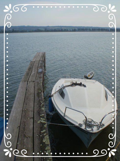 boot, see, bodensee, steg, holz, seeblick, natur
