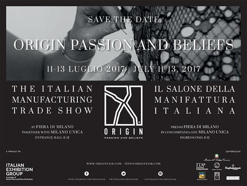 Origin Passion and Beliefs Milano 11-13 Luglio 2017 @Milano Unica