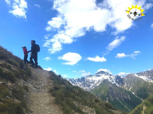 Auf geht´s zur familienfreundlichen Gipfelbesteigung in Samnaun.