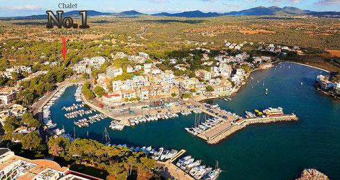 ... der Hafen von Porto Petro ...