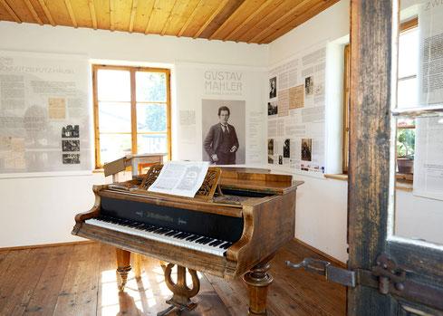 Innenansicht Mahler Komponierhäuschen heute
