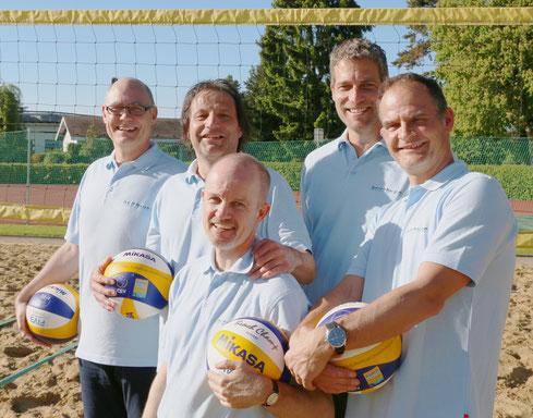 Von links nach rechts:  Markus Müller (Präsident Sandhalle Frauenfeld), Peter Schaltegger, Jörg Engweiler, Sascha Heyer und Remo Witzig,.