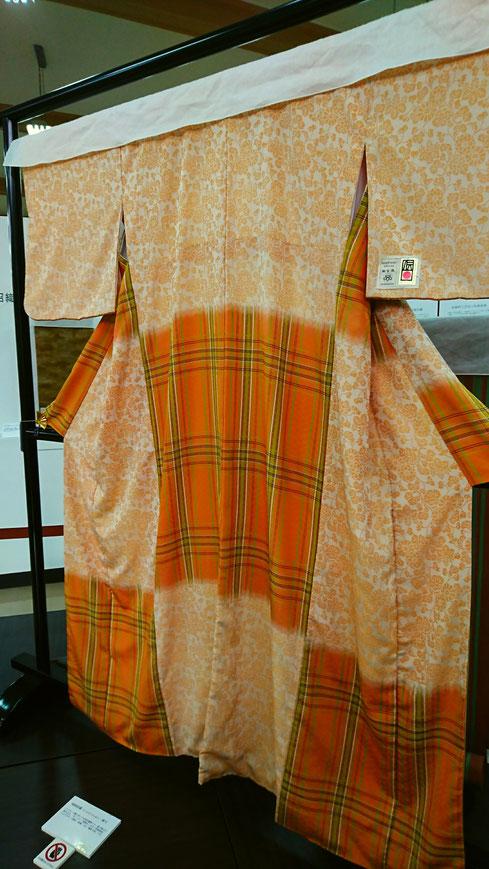 桐生の織物で作られた着物