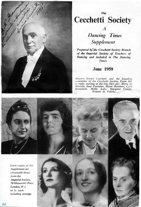 (Top Row, L-R) Derra de Moroda, Jane Forestier, Marie Rambert, Cyril Beaumont; (Bottom Row, L-R) Molly Lake, Margaret Craske, Ninette de Valois