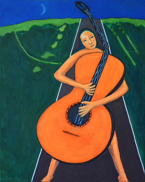 """Girl with Guitar III"""