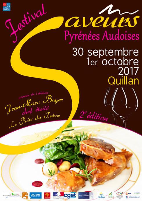 Affiche du Festival Saveurs Pyrénées Audoises 2017