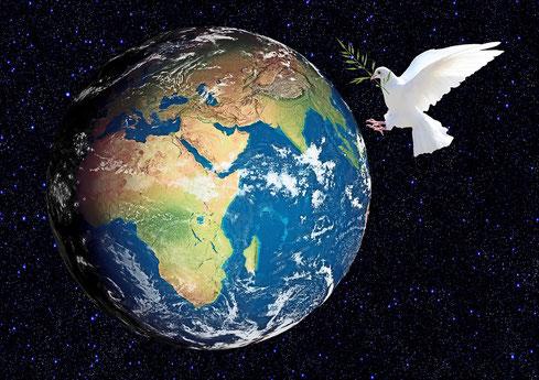 Le Royaume céleste composé de Jésus-Christ associé à son épouse instaurera efficacement et durablement la Justice et la Paix véritables sur la terre.