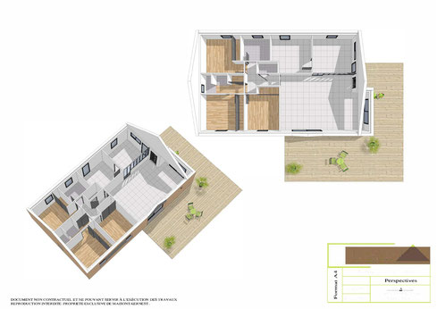 Votre plan maison plain pied par MAISONS KERNEST votre constructeur en coopérative