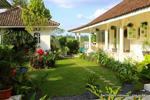 Long leasehold 3 bedroom villa for sale, Bedugul, Bali.