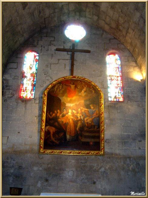 Tableau au-dessus de l'autel de l'église Saint-Vincent, Les Baux-de-Provence, Alpilles (13)