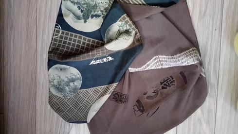 Echarpes en soie kimono nagajuban