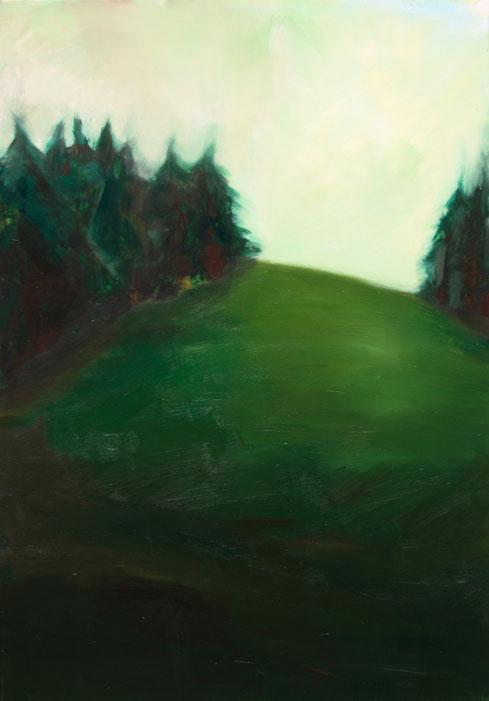 Paysage II, 2018, Acryl auf Leinwand, 100x70