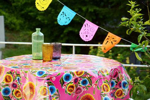 Wachsstoff-Tischdecken
