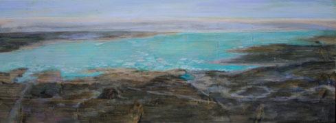 Eislandschaft 3, 2009, 60 x 120 cm, Acrylfarbe auf Holz