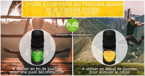 L'huile essentielle au Manuka apaise et le Kanuka tonifie