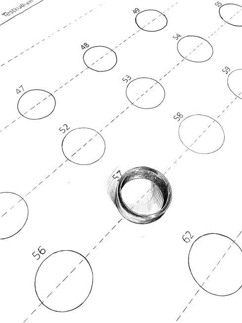 Ringgrösse, Ringumfang, Ringdurchmesser, Tabelle