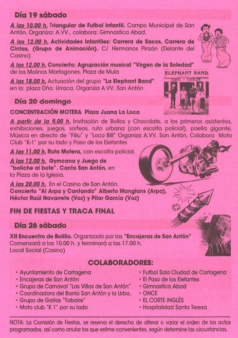 Fiestas de San Antón en Cartagena