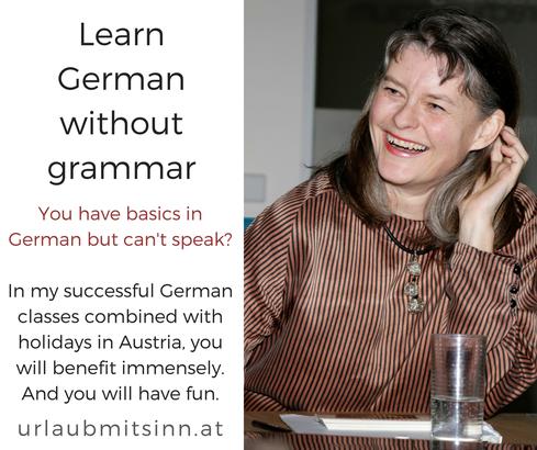 Gabriele Dienstl erklärt die Methode Deutsch lernen ohne Grammatik.
