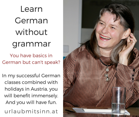 Gabriele Dienstl explaines the method of learning a foreign language without grammar study.