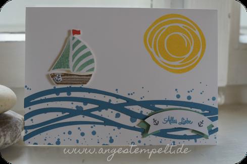 Schiffchen mit Swirly Bird und wunderbar verwickelt - Patricia Stich, unabhängige Stampin´Up! Demonstratorin