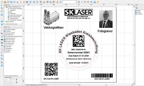 Screenshot Software - Beschriftungslaser