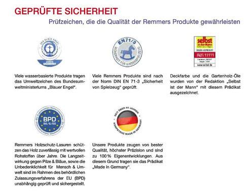 """Auszug aus dem Remmersprodukt Katalog"""