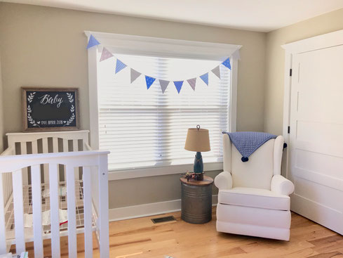 Funky Flags Bunting. Blue & Grey Nursery Bunting baby boy decor stars stripes spots