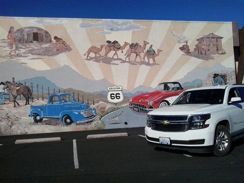 Bild: Kingman, Arizona, HDW-USA, Roadtrip, Amerika, Mister T. und der Weiße Büffel, Route 66