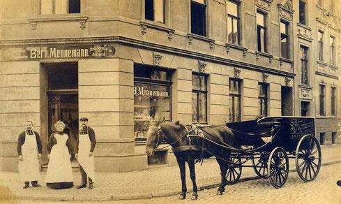 Metzgerei Mennmann, Wolbecker Straße 10 um 1910 - Sammlung Henning Stoffers
