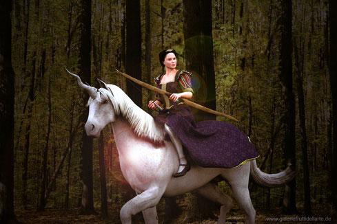 Das Mädchen mit dem Perlenohrring auf Einhorn