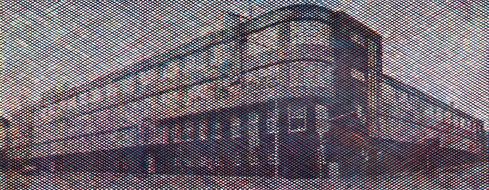 Holzschnitt des Aachener Ludwig Forum von Guido Löhrer auf der Aachener Kunstroute 2016