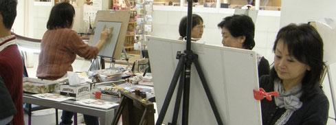 大高三絵子パステル画教室 パステル画教室 一日体験