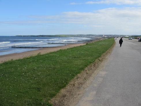 Aberdeen hat durchaus einen ansehnlichen Strand inklusive Promenade