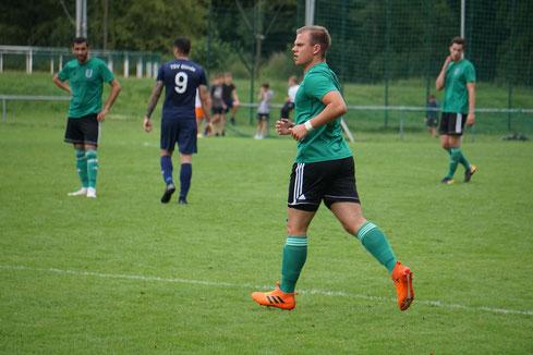 Neuzugang Marvin Möller bot eine ansprechende Leistung, erwischte vor dem Tor aber einen unglücklichen Tag. (Fotoarchiv: Florian Leibold, SCS-TSVGlinde)