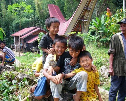 De lokale bevolking in Tana Toraja op Sulawesi