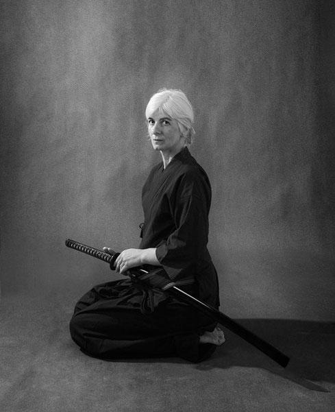 Renate Arlt, 5. Dan Aikido, ©Birgitta Thaysen 2013