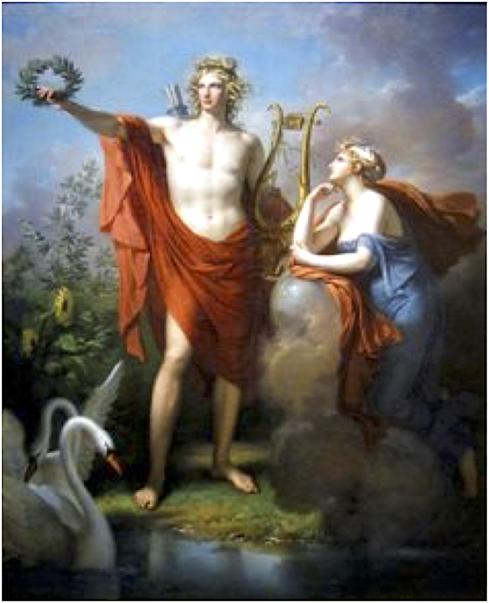 Illustration cours astrologie à Boulogne (Apollon et Uranie)