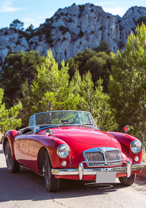 An MGA from Bullit joins the cabriolet fleet of the Hameau in 2018