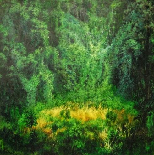 緑雨 S100 油彩