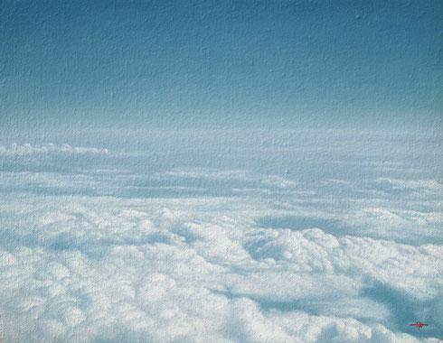 「雲の上を泳ぐ」油彩 F6 189000円