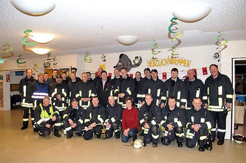 Die Mannschaft nach einem Übungsdienst im Ev. Kindergarten 2014 / Foto: Kanalblatt
