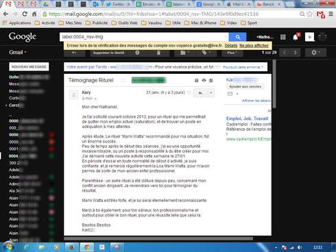 Nathaniel Sorcier Témoignage avis forum