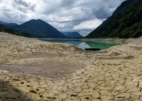 07.07.2012 - Seepegelabsenkung wegen Bauarbeiten am Staudamm