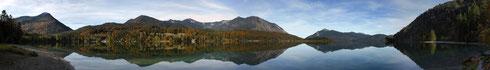 Walchensee, Blickrichtung Nord (bitte klicken um zu vergrößern)