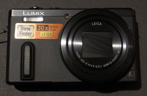 Die Panasonic DMC-TZ61 in schwarz