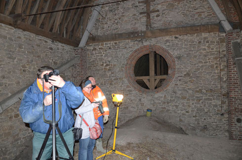 En exploration photographique sur les voûtes de l'église Saint-Martin de Chièvres