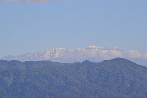 2013年白山の初冠雪