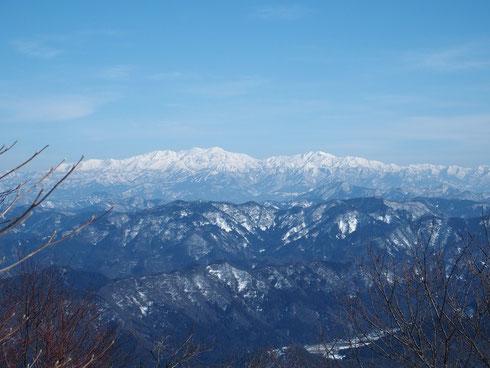 白山山系の全容です